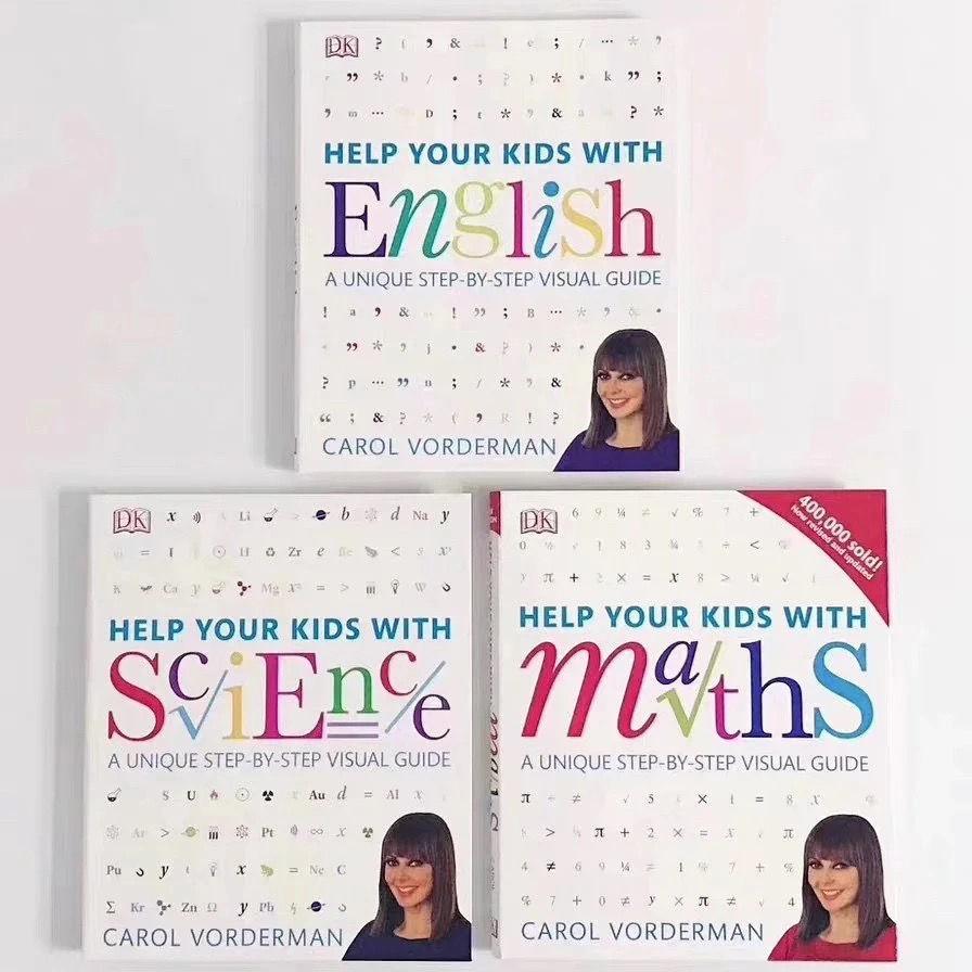 DK Help Your Kids with系列3冊 DK數學科學教室英文學習技巧