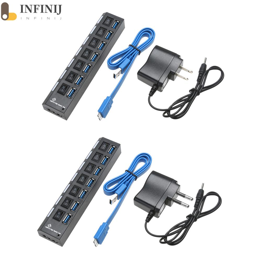 [infinij]usb3.0分線器 7口usbhub 3.0hub 擴展器 USB3.0HUB 7口分線器