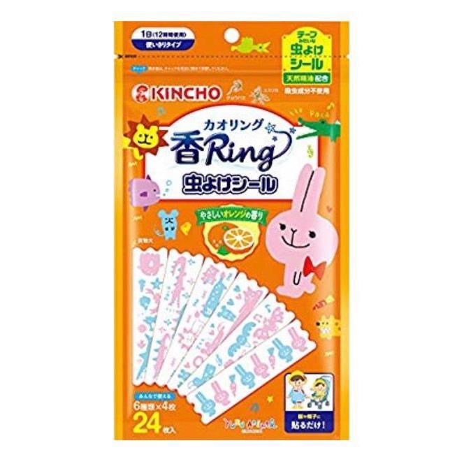 日本KINCHO金雞兒童柑橘精油防蚊貼片 24入