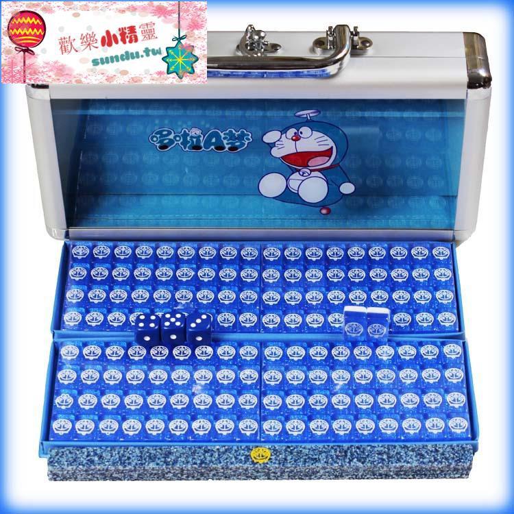 哆啦a夢 麻將/Doraemon 水晶麻將牌 叮當小麻將 迷你麻將卡通麻將【sundu.tw】