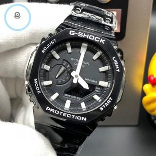 CASIO 卡西歐 G-SHOCK 1A1 防震 防水 運動電子手錶 農家橡樹八角形鋼帶款  GA-2100-1APR 桃園市