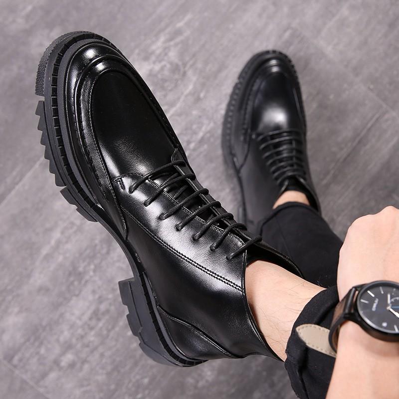 廠家直銷 新款男士正皮靴裝高幫皮鞋男靴短靴尖頭馬丁靴雕花批發 S31