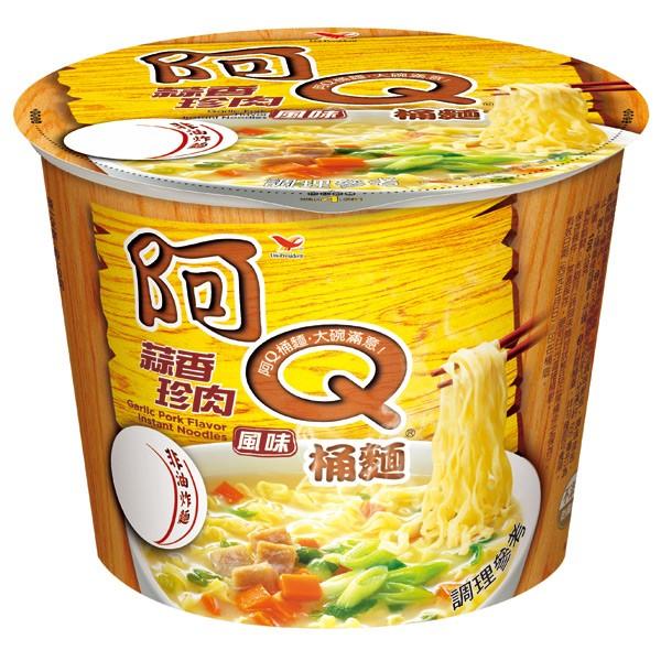 任挑5箱以上送到家(限高雄) 統一 阿Q桶麵 蒜香 珍肉 風味(12碗/箱) 碗麵 泡麵