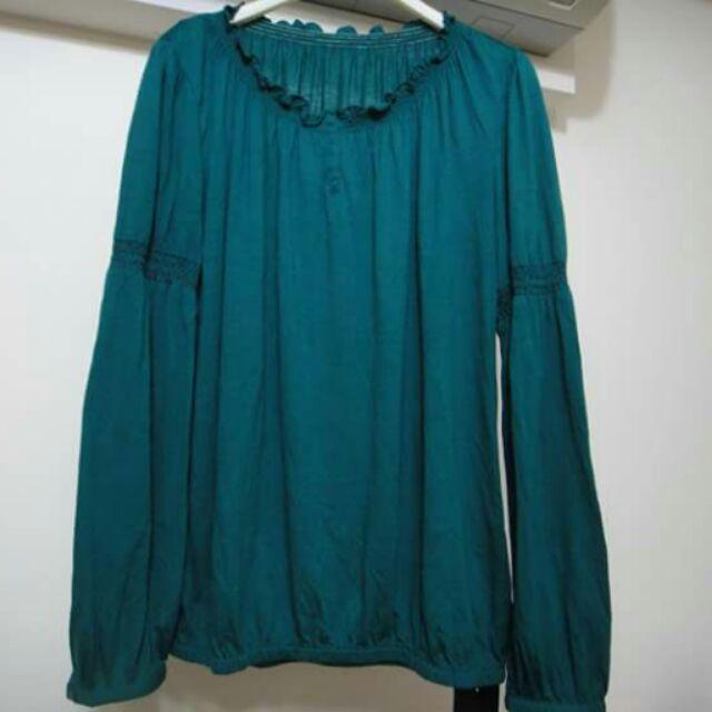 全新JO-AN百貨專櫃XL號綠色造型長袖上衣