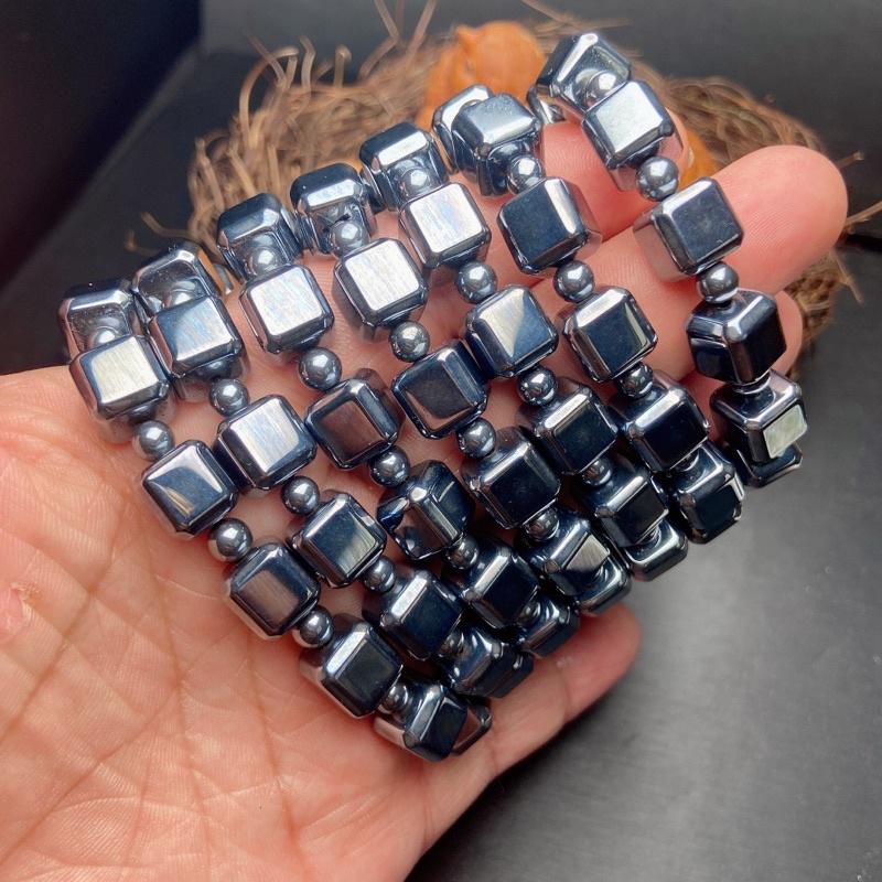 風靡世界的太赫茲10mm鈦赫茲方糖手鍊磁場促進血液循環手串