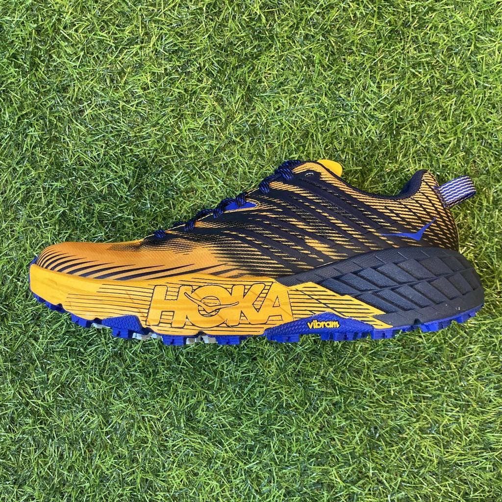 HOKA ONE ONE 男款 SPEEDGOAT 4 野跑鞋 黃x灰 HO1106525SBIS EDC