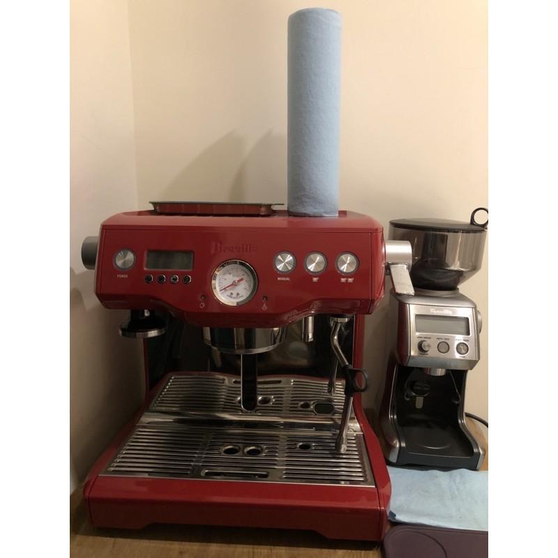 Breville經典紅專業級半自動義式咖啡機BES920XL