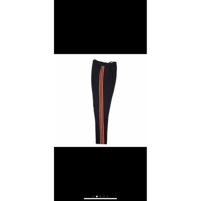 高品質橘色三線修身運動褲 尺寸s