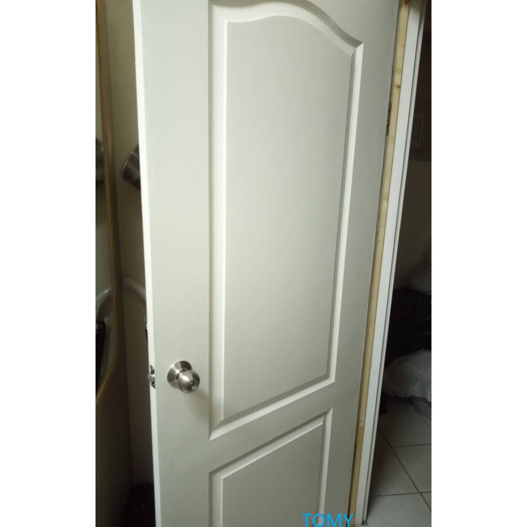 裝好的門 木纖門 實木門 貼皮門 木門 房間門 浴室門 台中 安裝 維修
