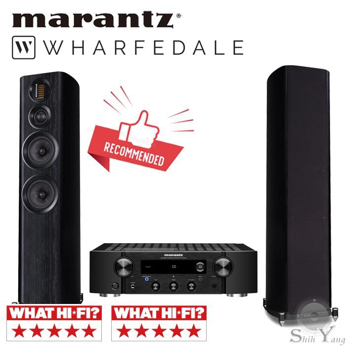 Marantz PM7000N 網路串流綜合擴大機 + Wharfedale EVO4.4 落地喇叭 公司貨保固