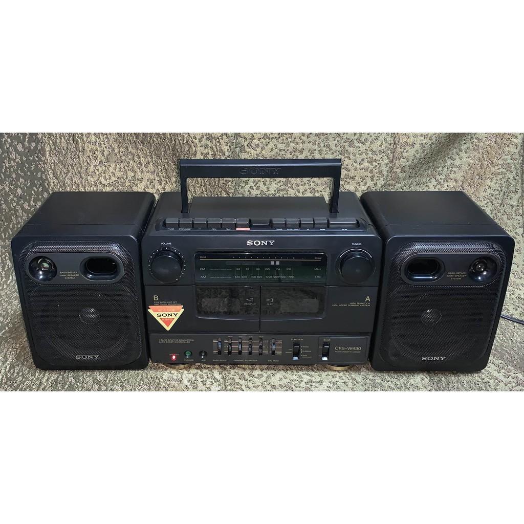 Sony CFS-W430 HiFi立體聲卡帶收/錄音機,AM / FM