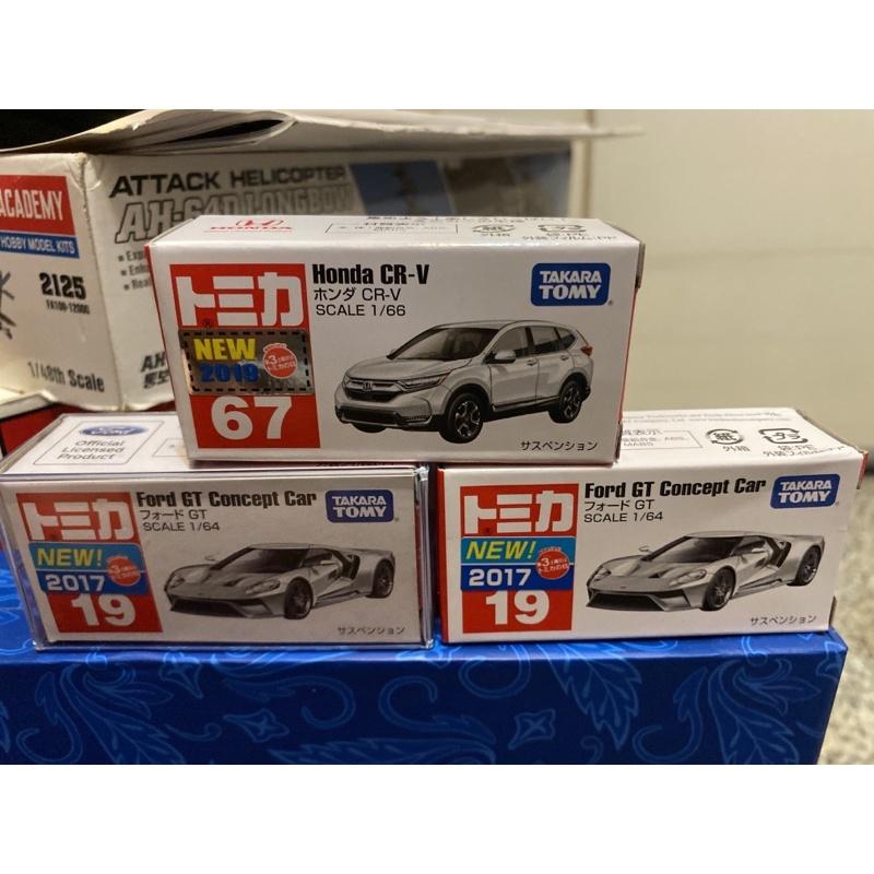 Tomica 盒損福利品 Honda CRV/Ford GT
