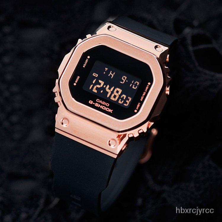新款CASIO卡西歐G-SHOCK玫瑰金女士手錶小方錶GM-S5600PG-1/4/SB/SK-7 bFyp