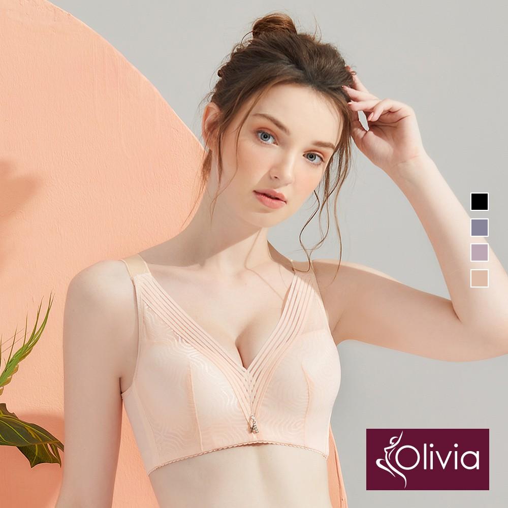 【Olivia】無鋼圈幾何網紗內衣(4色)