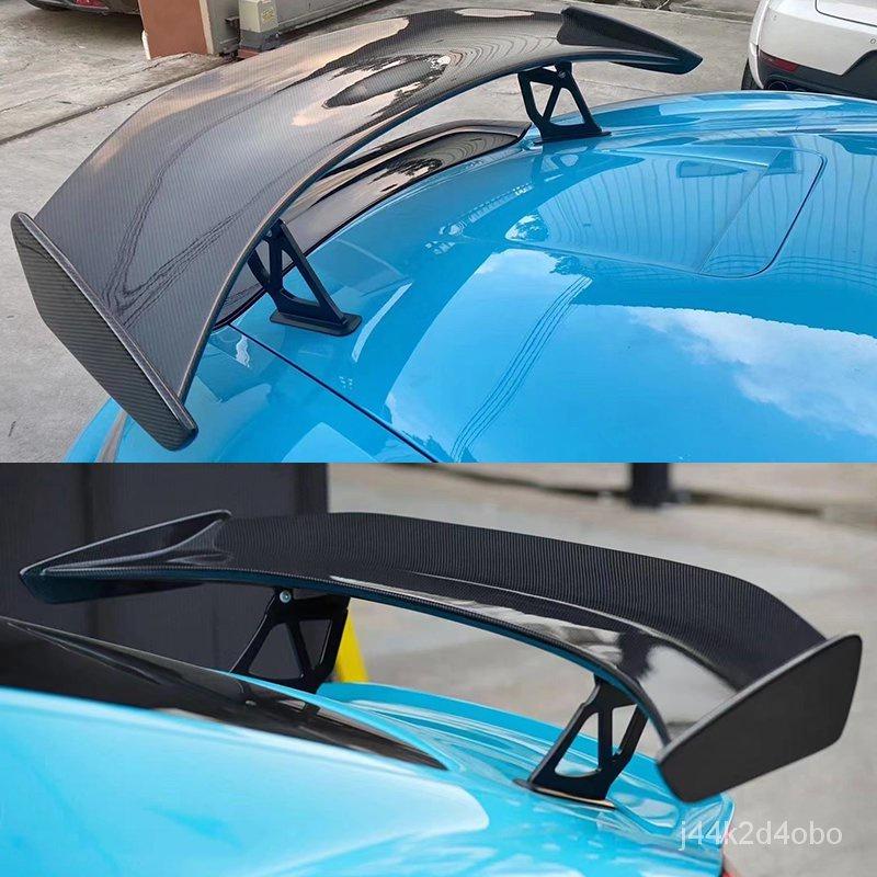【現貨】適用於保時捷718/981/987改GT4碳纖維尾翼cayman卡曼GT打孔大尾翼台灣 AezU