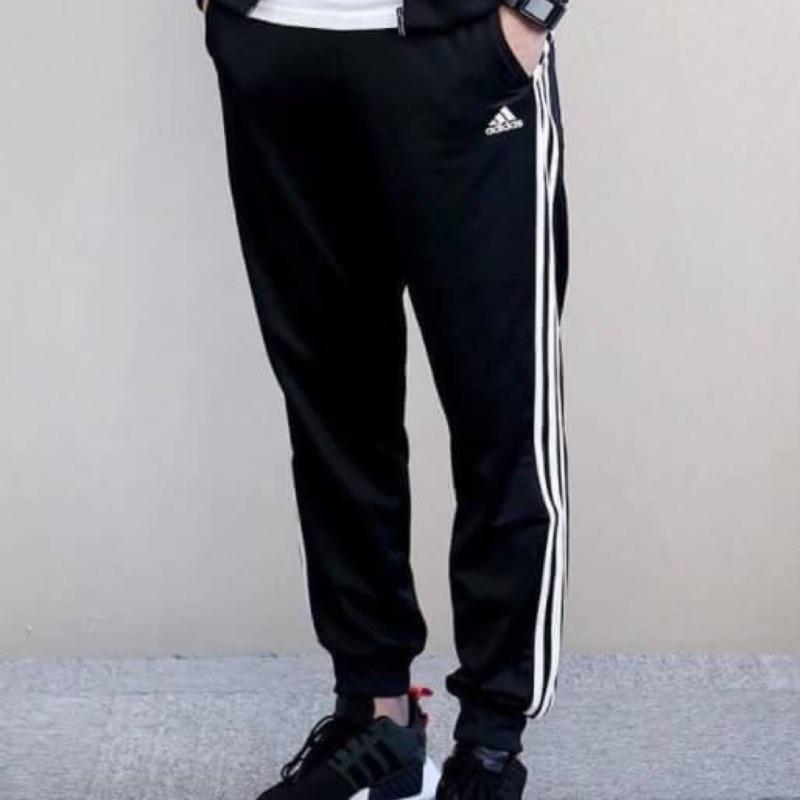 Adidas ESS TRICOT 三線 縮口褲  BK7396