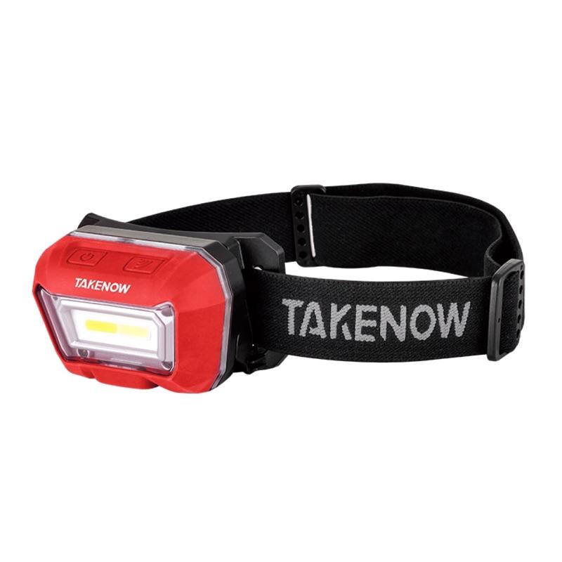 現貨*SSD汽車美容用品 TAKENOW鐵朗 三色溫感應頭燈 頭戴式 可調式頭燈 工作燈