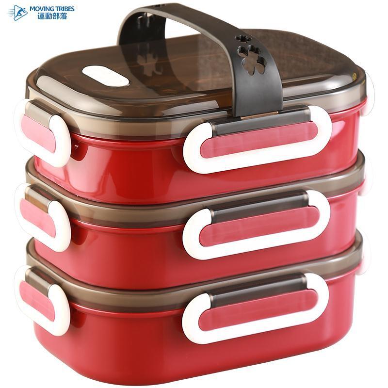 飯盒分隔型上班族多層保溫餐盒便攜帶湯盒不銹鋼學生便當盒微波爐