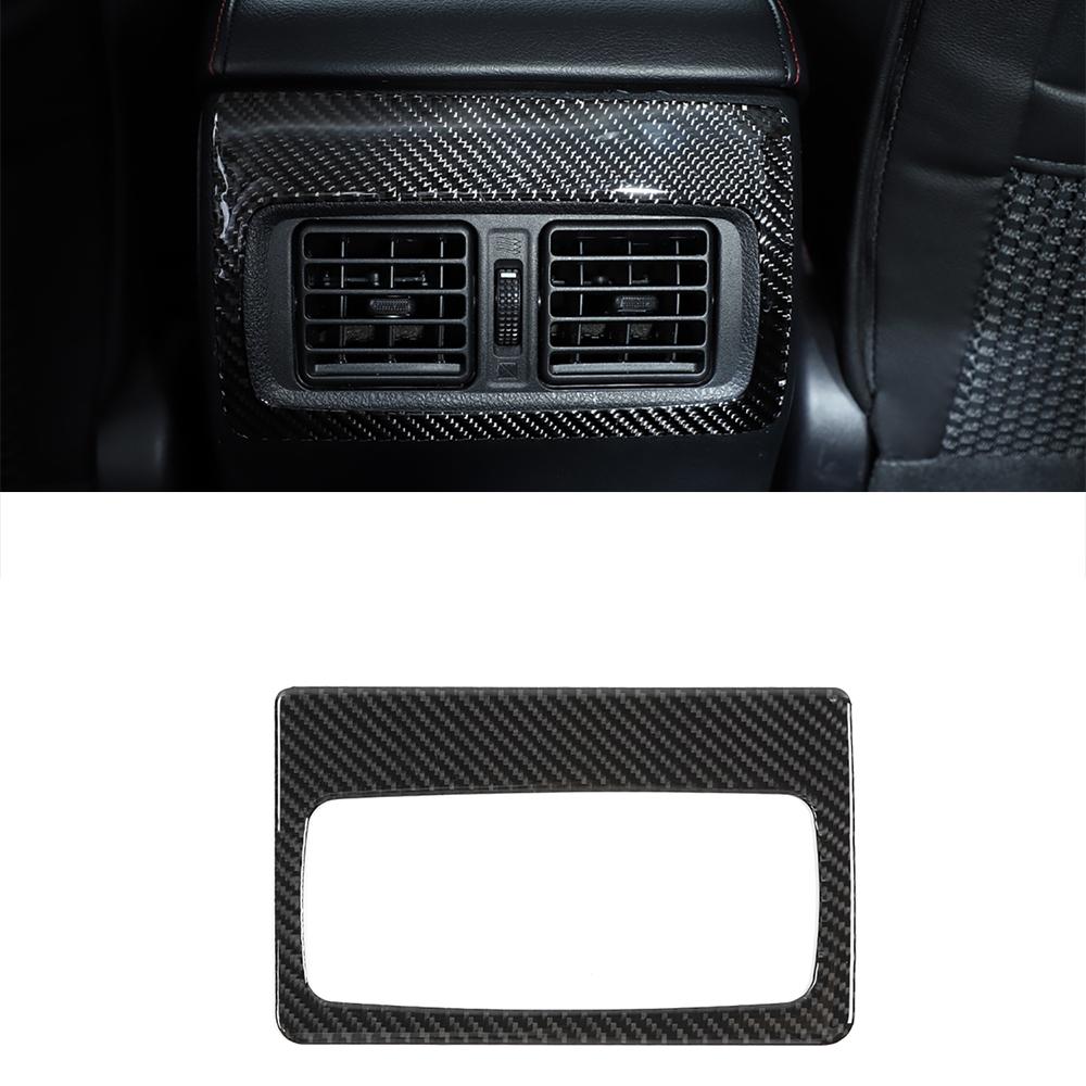 (博昌)用於豐田4runner 2010-2021後風口板裝飾貼紙真正的碳纖維汽車內飾配件用於豐田4runner