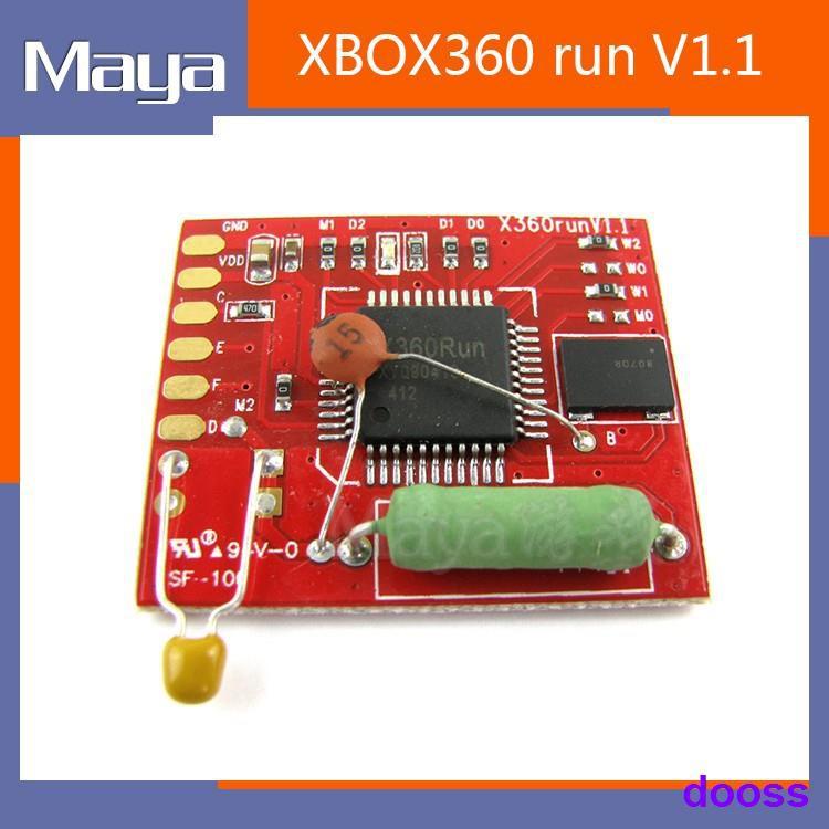 熱賣❂XBOX360 runV1.1脈沖ICX360 脈沖紅板IC 96M晶體 帶改機線 可秒開