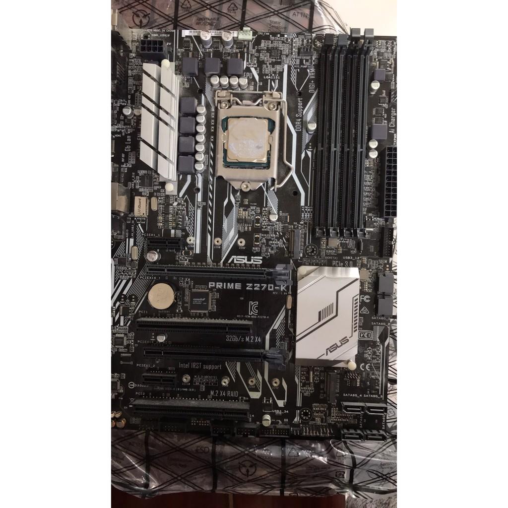 intel I5 7400. 主機板 z270-k-> 絕對良品 + 送一個GA-P45 DDR3的主機板