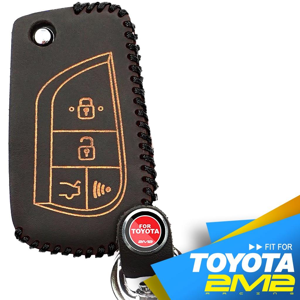 【2M2】TOYOTA RAV4 VIOS WISH YARIS 豐田汽車 原廠型改裝摺疊款 C70 鑰匙皮套