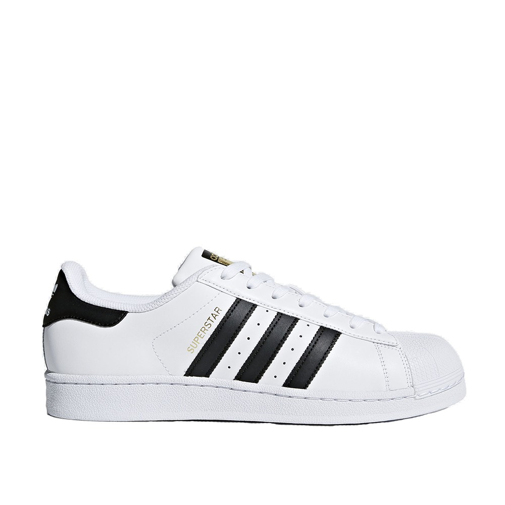 ADIDAS 男女 SUPERSTAR WHITE GOLD 皮革 金標 白黑 【A-KAY0】【C77124】
