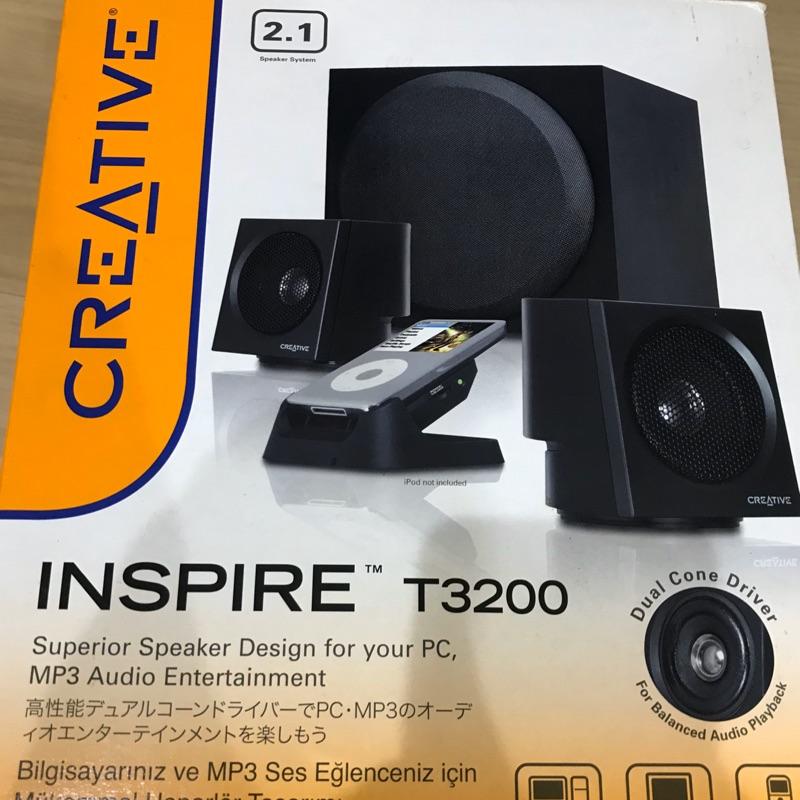 Creative inspire T3200 喇叭 2.1聲道 創新未來 二手物品