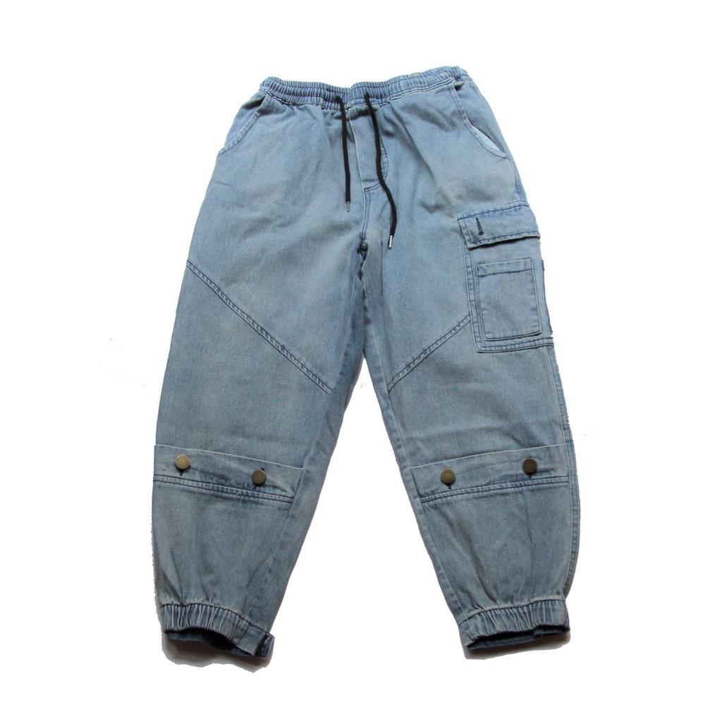 PUNX 19AW DENIM JOGGING PANTS 牛仔工裝褲束口褲/縮口褲