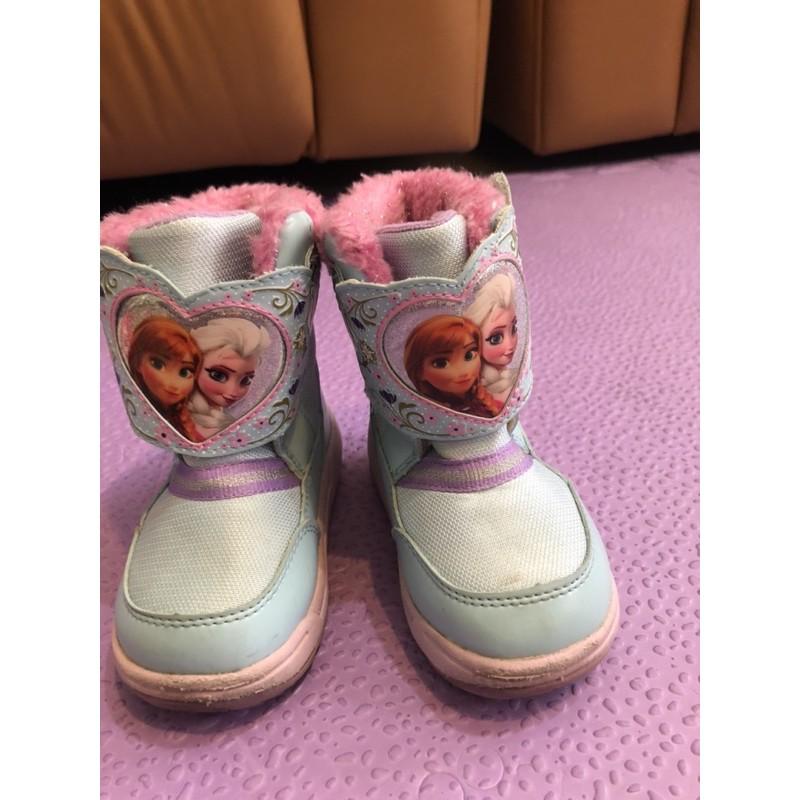 moonstar 冰雪奇緣 日本月星 短靴 童靴 女童鞋/14公分
