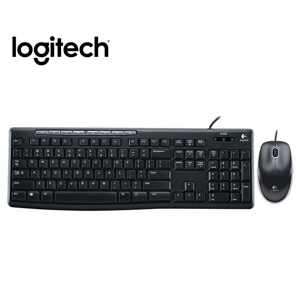 Logitech 羅技 MK200 有線鍵盤滑鼠組