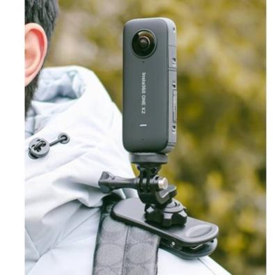 蝶形背包夾 肩帶固定胸前支架 360度旋轉適用insta360 one x/x2相機GoPro9/ACTION相機