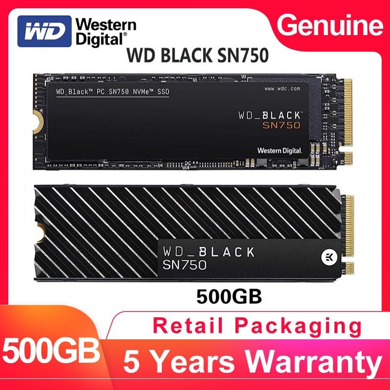 西部數據WD SN750黑色NVMe 500GB SSD遊戲SSD Gen3 PCIE,M2 2280