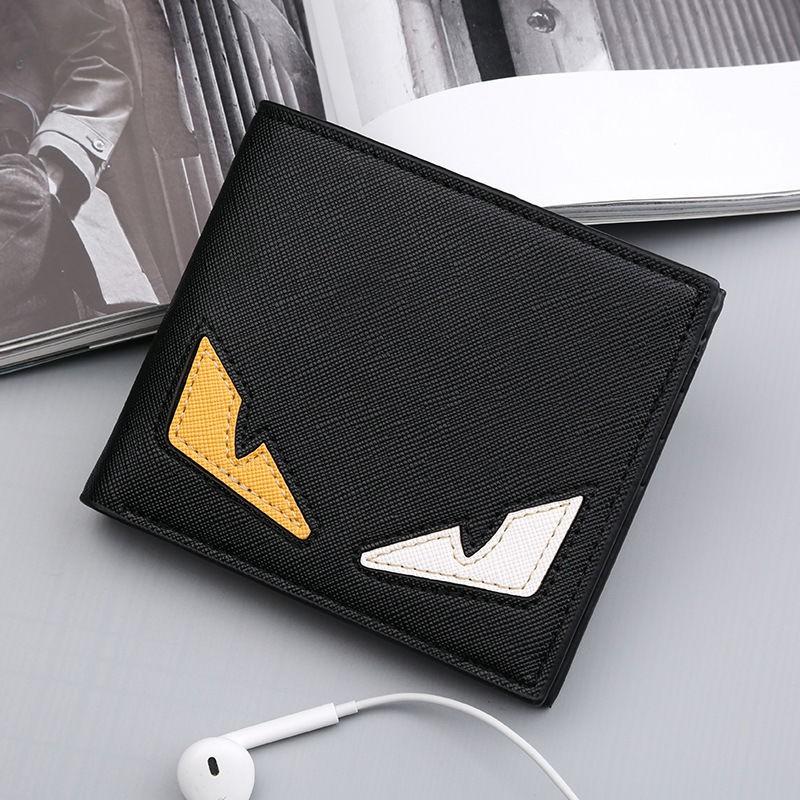 現貨實拍錢包男士短款韓版錢夾青年時尚橫款超薄皮夾休閑學生多卡位票夾潮