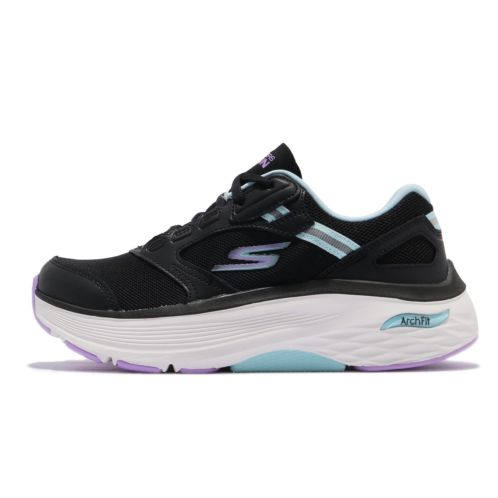 Skechers 健走鞋 Max Cushioning Arch Fit 女 黑 紫 【ACS】 128301-BKAQ