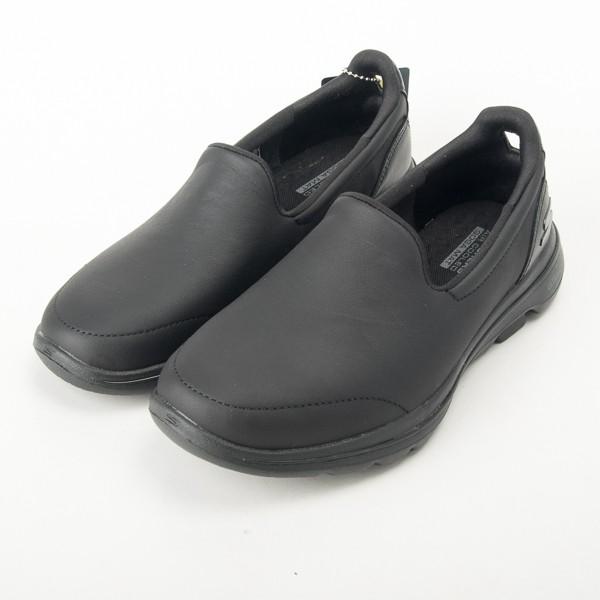 Skechers  女 皮質 GOWALK 5 健走鞋 全黑 上班族 大尺碼 15923BBK  現貨
