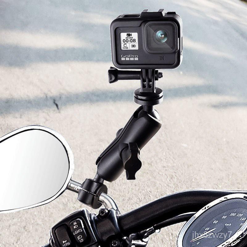 摩托車支架GoPro支架Insta360 one r配件車把固定360相機騎行裝備 ugeQ