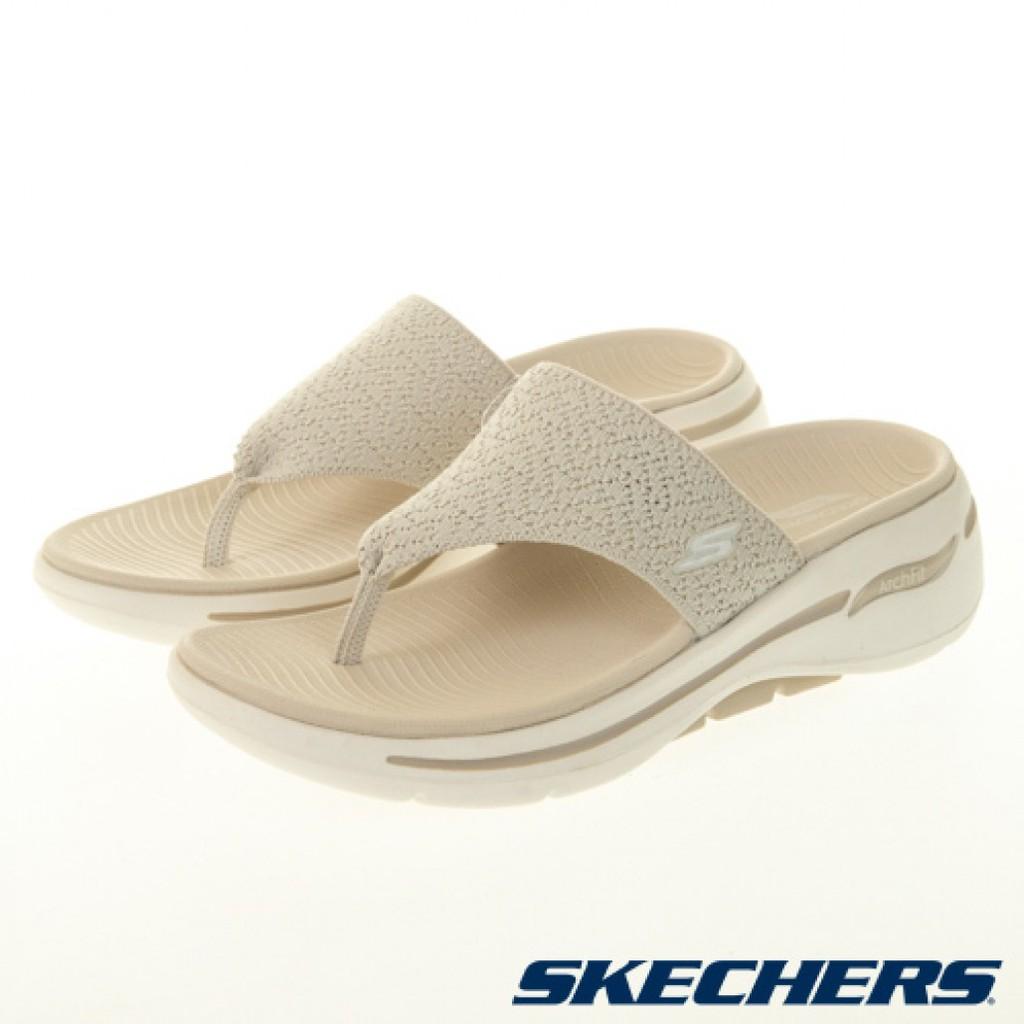 SKECHERS(女) 夾腳拖 拖鞋 ARCH FIT SANDAL(140221NAT) [漫步在雲端]