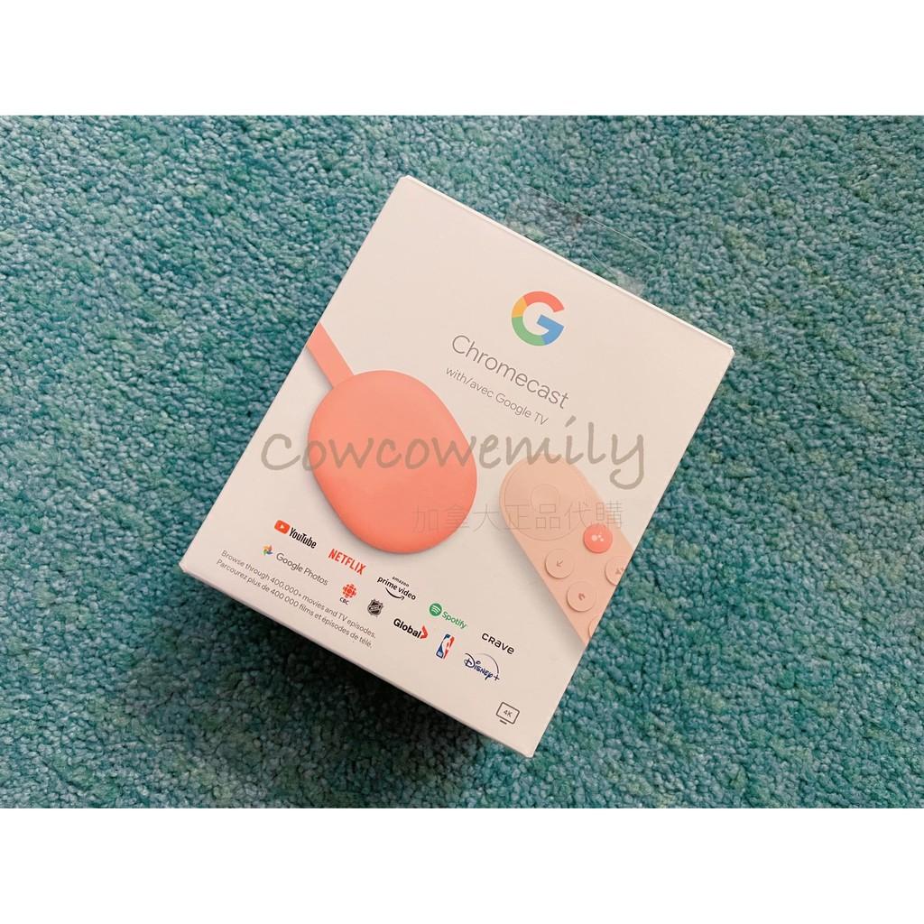 正品代購[最新 第四代]Chromecast with Google TV 高畫質電視棒