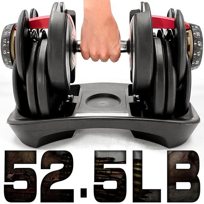 快速調整52.5磅智慧啞鈴(15種可調式)52.5LB重力設備23KG啞鈴槓鈴.23公斤舉重量訓練機器C194-552