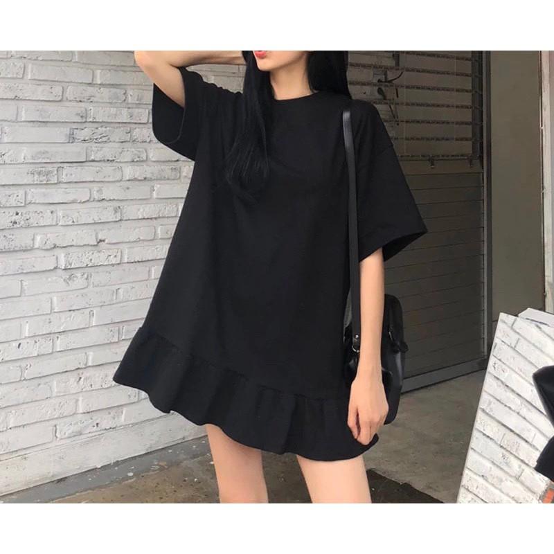 [D402] 荷葉邊俏皮連身裙