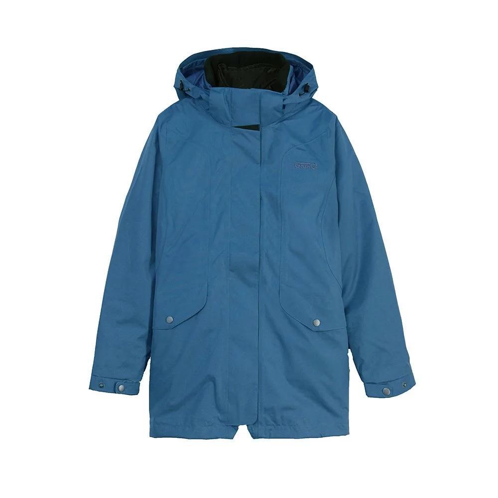 GFun 男款防水耐寒2in1蜂巢格紋外套-藍灰