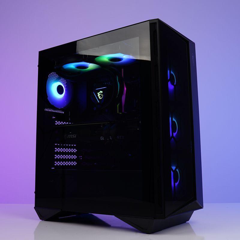 MSI全家桶RYZEN 7 5800X RTX3080 RGB水冷電腦主機裝機方案
