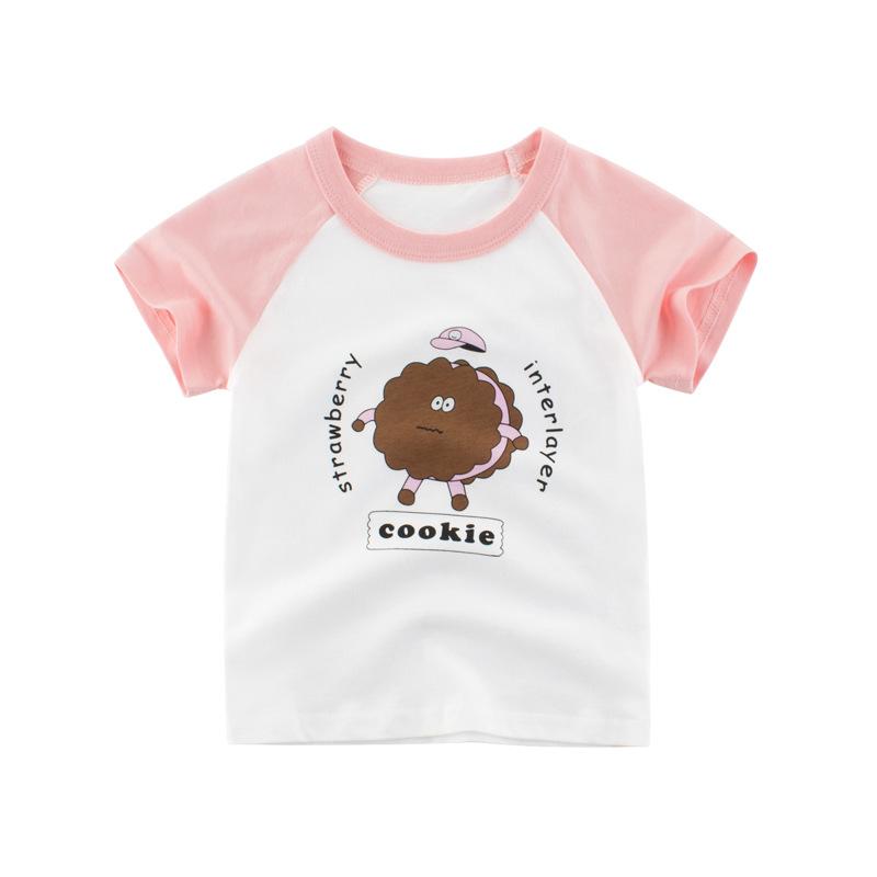 新款童裝夏季兒童短袖T恤 女寶寶t恤孩子衣服卡通純棉韓版童裝