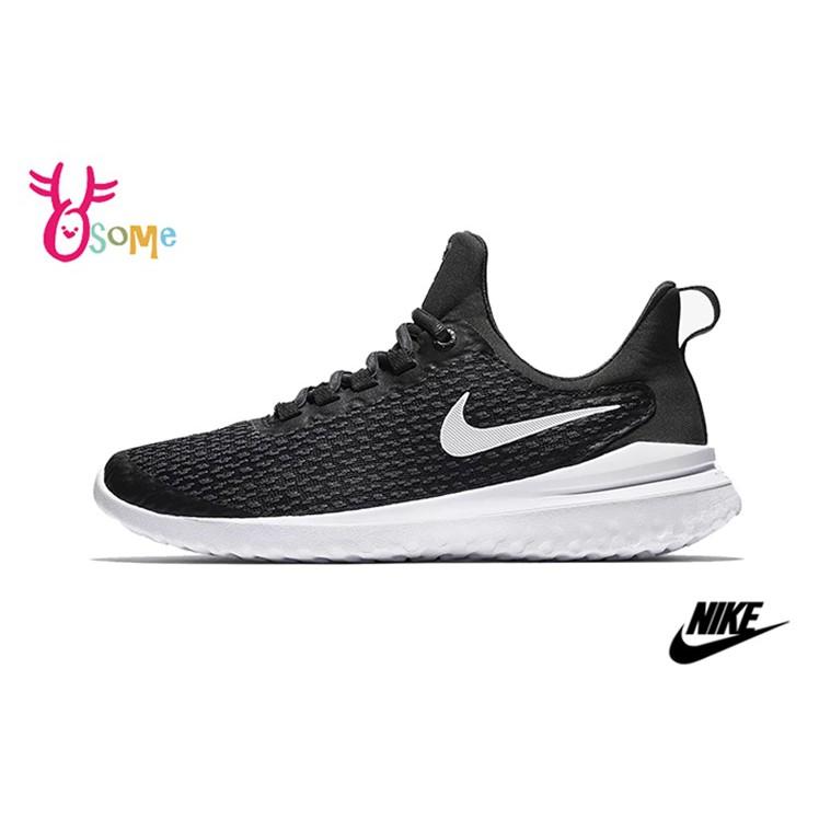 NIKE跑步鞋 男鞋Renew Rival 2E 慢跑鞋 休閒運動鞋 跑鞋 免綁鞋帶 O7203黑白OSOME奧森鞋業