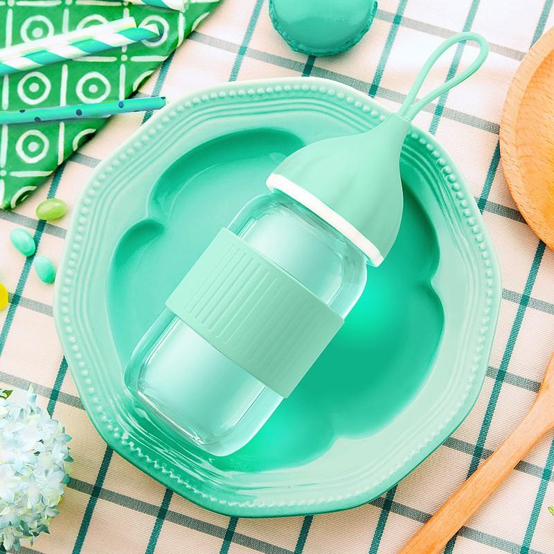 (現貨#貨到付款)保溫杯日系玻璃杯便攜韓國隨手杯創意杯子呆萌花茶杯可愛學生水杯定制