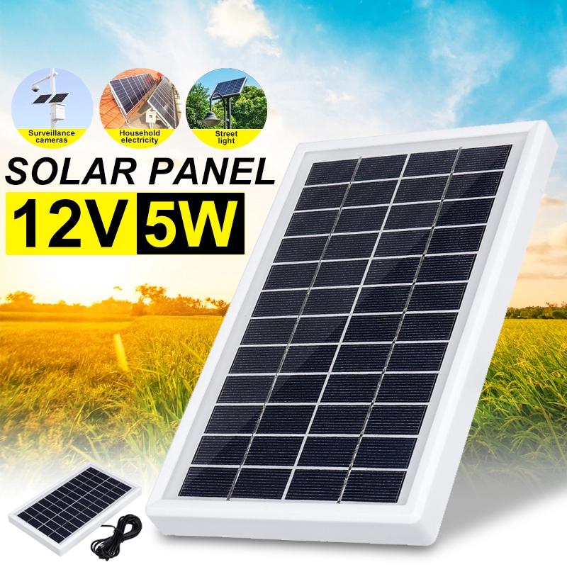 5W 12V太陽能電池板Sunpower電池充電器能源