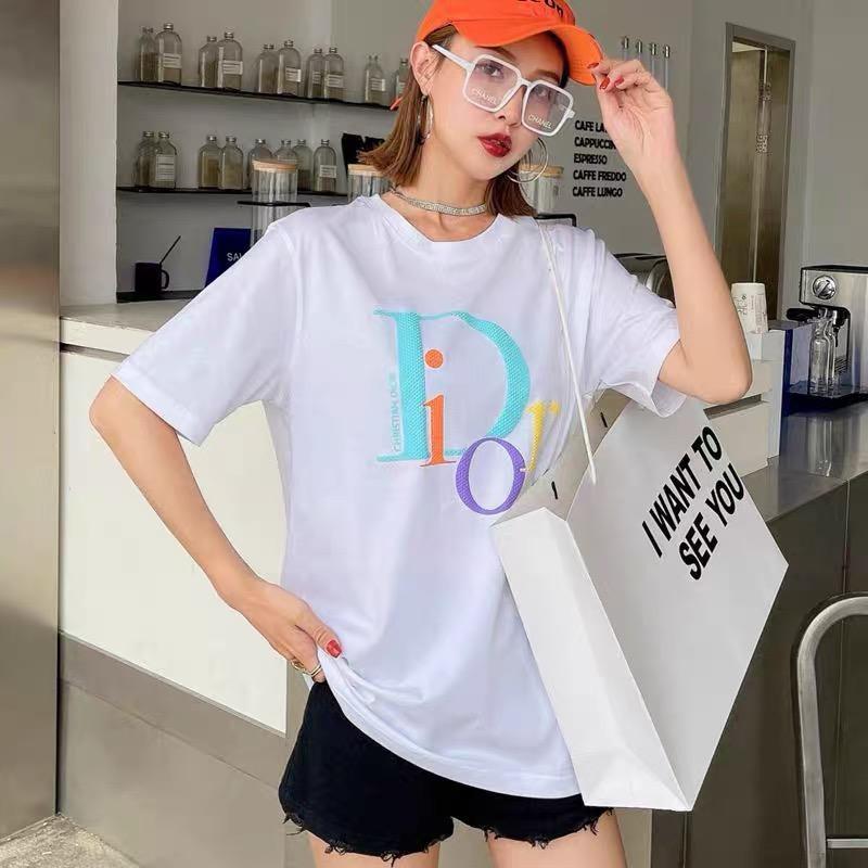 Dior 迪奧短袖T恤  胸前case字母印花 男女同款T恤 透氣 百搭 男T女T 純棉上衣