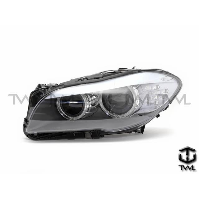 <台灣之光>全新BMW寶馬F10 F11 14 15 16 17年歐規原廠型HID黑底光圈魚眼投射大燈