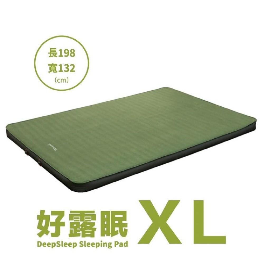 100mountain 百岳好露眠 3D雙人TPU自動充氣睡墊/露營睡墊 橄欖綠 XL